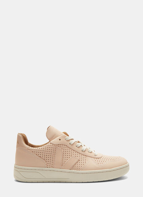 V-10 Bastille Perforated Mid-Top Sneakers