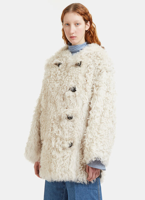 Lune Hooded Shearling Coat