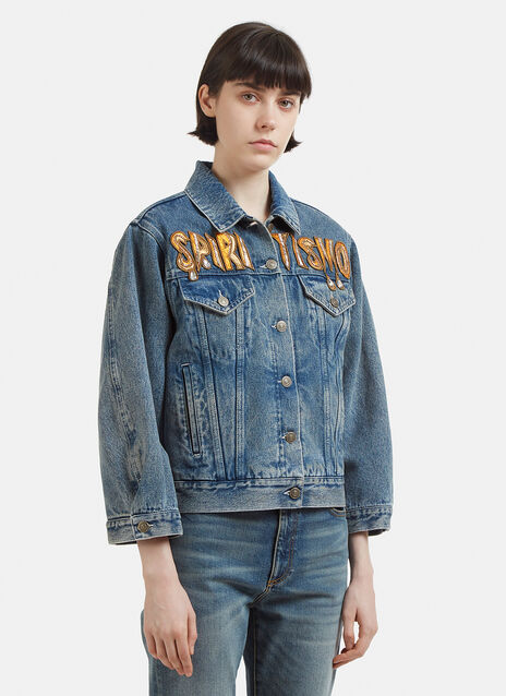 Gucci Spiritismo Archive Print Denim Jacket