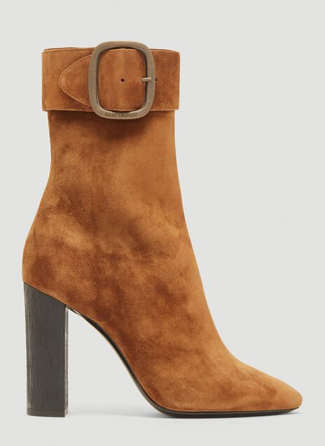Saint Laurent Joplin 105 Suede Ankle Boot