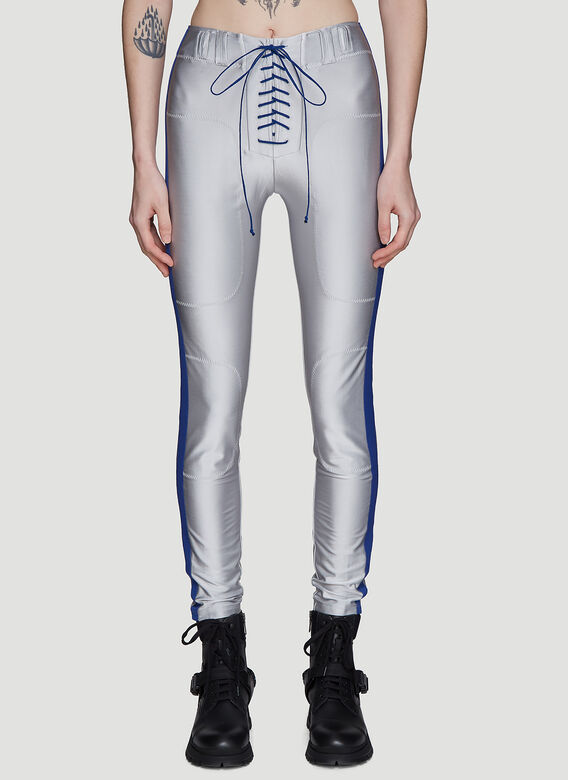 Unravel Project Lace-up Metallic Pants