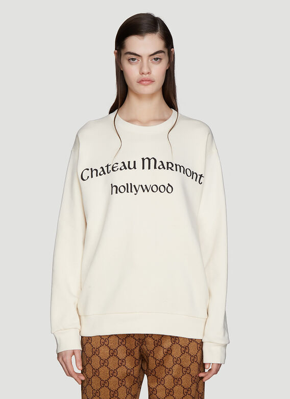 4f30728323b Gucci Chateaux Marmont Sweatshirt in White
