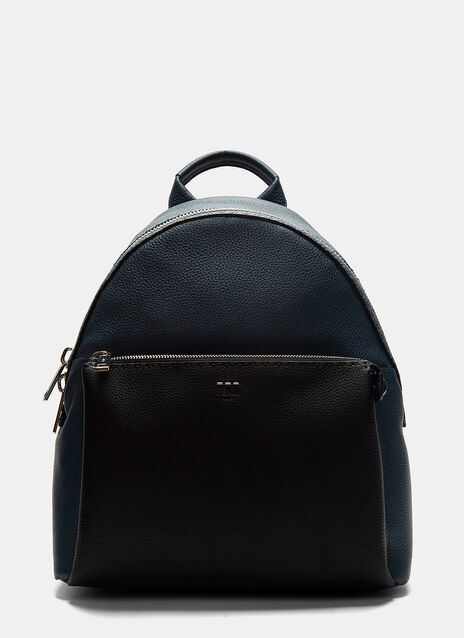 Romano Grained Leather Bi-Colour Backpack