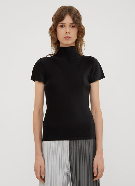 Pleats Please Issey Miyake Mock Neck T-shirt