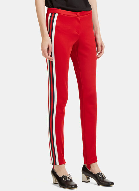 Gucci Striped Web Jersey Stirrup Leggings