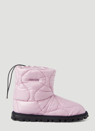 Miu Miu Quilted Ankle Boots
