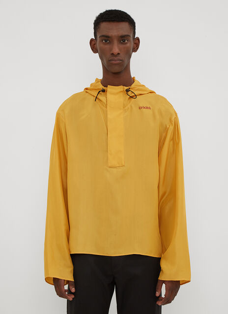 Wales Bonner Créolité Silk Hooded Shirt
