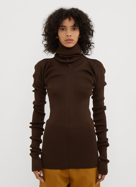 Marni Long Sleeve Turtle Neck Ribbed knit Sweater