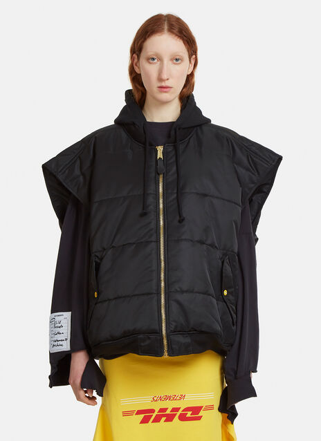 Vetements Alpha Industries Oversized Hooded Bomber Vest