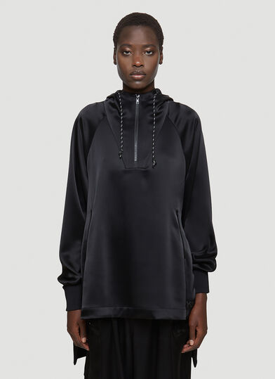 Y-3 Oversized Hooded Jacket in Black