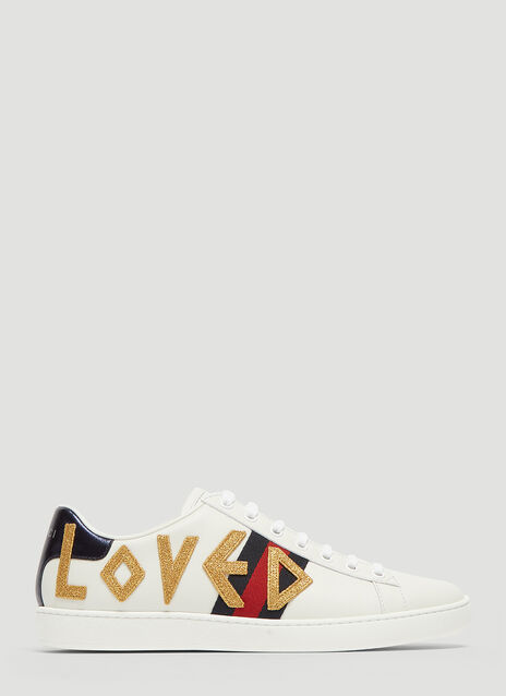 Gucci Ace Love Embellished Sneaker