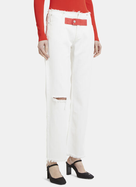 Alyx Raw-Edged Slim Leg Jeans