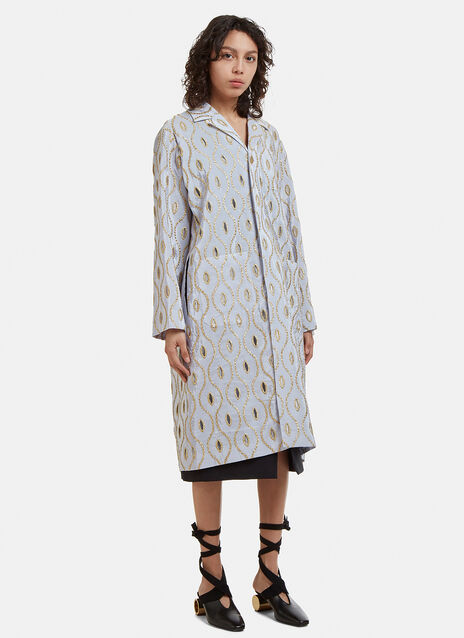 Marni Metallic Embroidered Coat