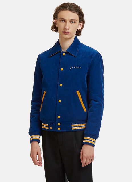 Corduroy Teddy Baseball Jacket