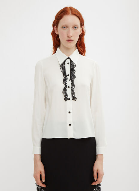 Miu Miu Sablé and Lace Blouse