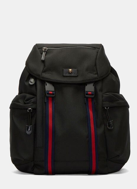 Techno Striped Webbing Strapped Backpack
