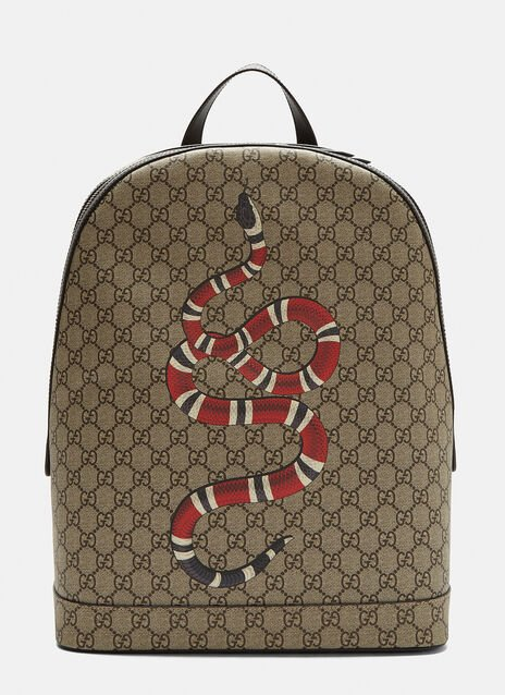 Gucci Kingsnake Print GG Backpack