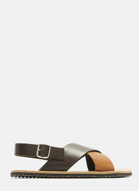 Marni Bi-Colour Leather Sandals