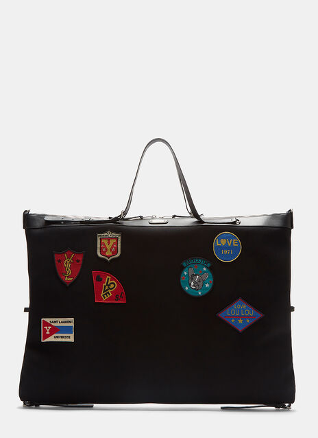 Large ID Embroidered Patch Convertible Bag