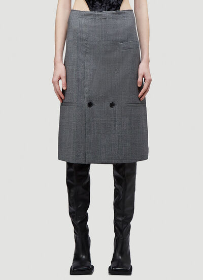 Vetements Tailored Pencil Skirt
