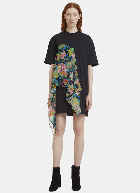 Floral Wrap T-Shirt Dress