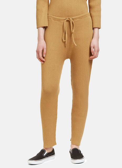 Lauren Manoogian Arch Ribbed Track Pants