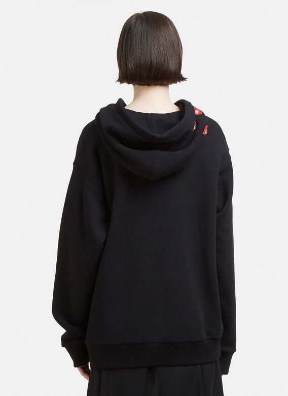 f9ddc4bb Gucci Hooded Spiritismo Bejewelled Sweatshirt in Black | LN-CC