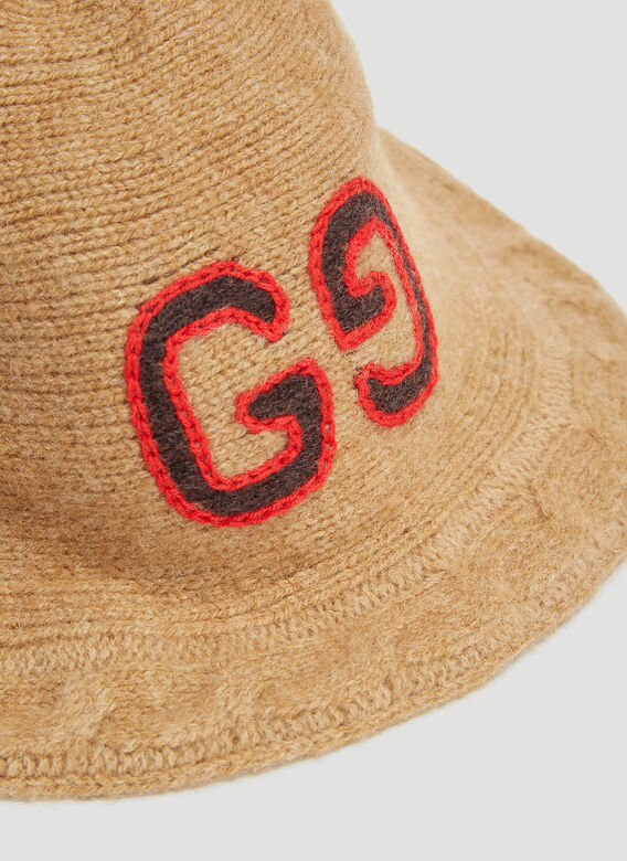 Gucci GG Cable Knit Bucket Hat
