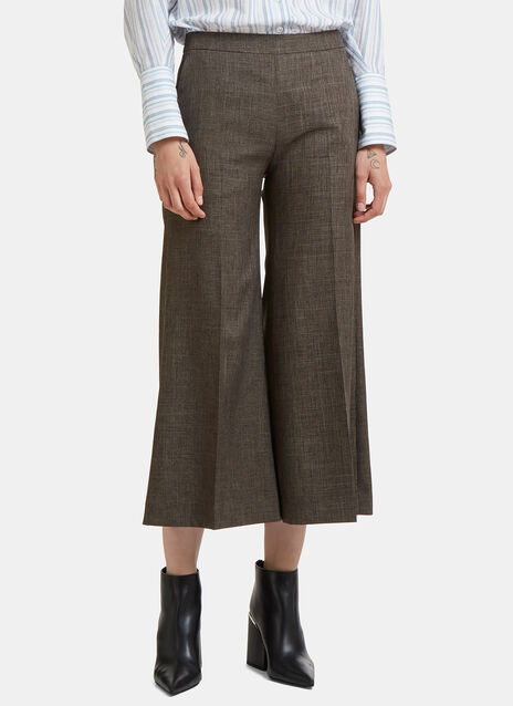 Acne Studios Isa Checked Wide Cropped Culottes