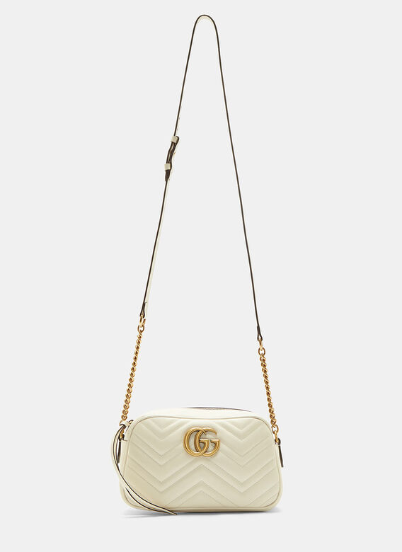 40bc4cd47a4b GG Marmont Matelassé Small Shoulder Bag in Ivory