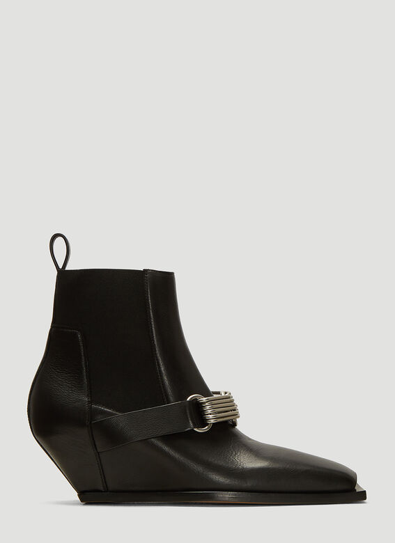 best loved 094f2 2c9d0 Rick Owens Stivali Ankle Boots in Black | LN-CC