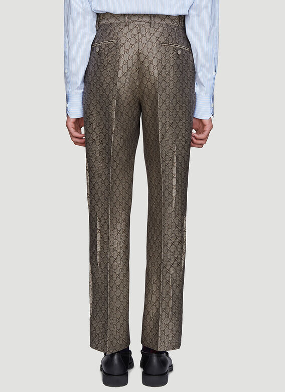 Gucci GG Jacquard Print Tailored Pants