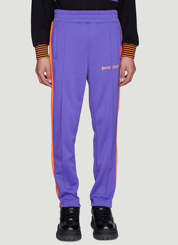 Palm Angels Pants Bold Track Pants in Purple