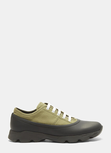 Marni Rubber Panelled Canvas Sneakers