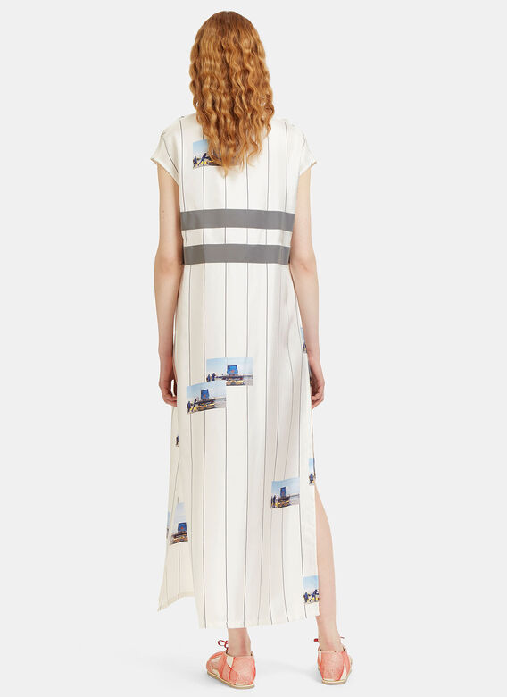 Serapis Long Printed High-Vis Striped Dress