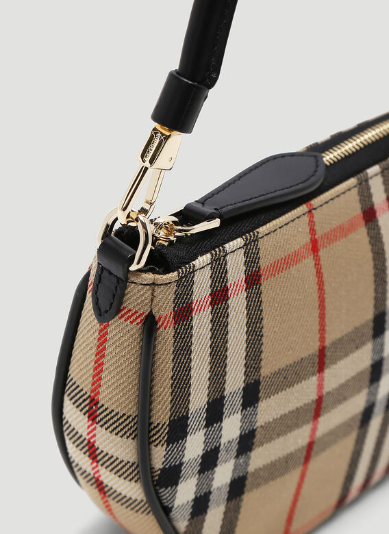 Burberry Olympia Vintage-Check Pouch Bag 5