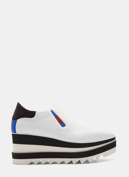 Image of Elyse Striped Platform Slip-On Sneakers