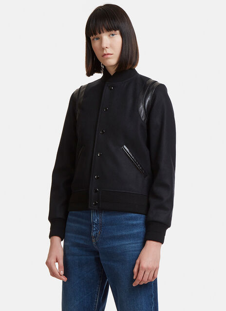 Saint Laurent Woollen Varsity Jacket