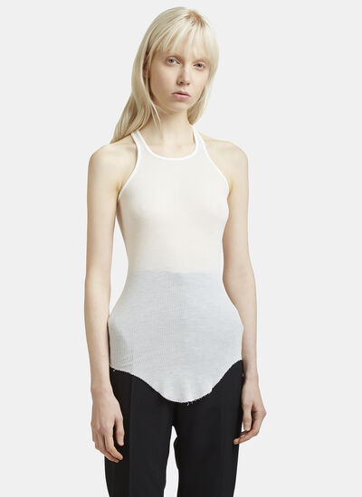 Rick Owens Rib Knit Crew Neck Vest Top