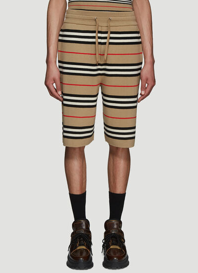 Burberry Striped Wool Shorts