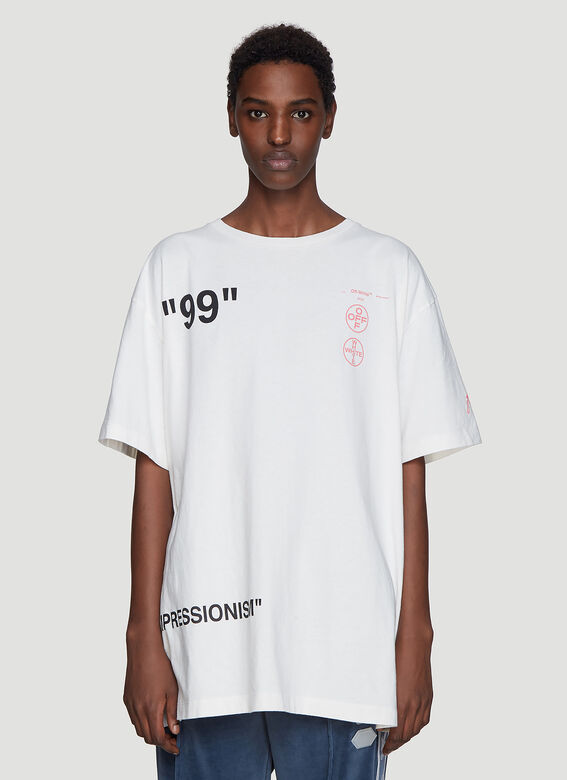60566f00 Off-White Oversized Boat T-Shirt in White | LN-CC