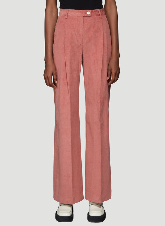 Pina Wide Leg Pants In Pink by Acne Studios