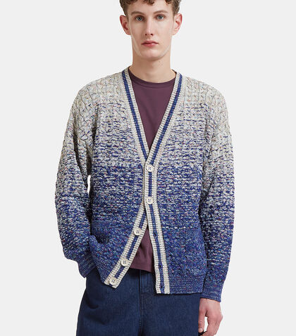 Missoni  Ombre Cable Knit Cardigan in Blue