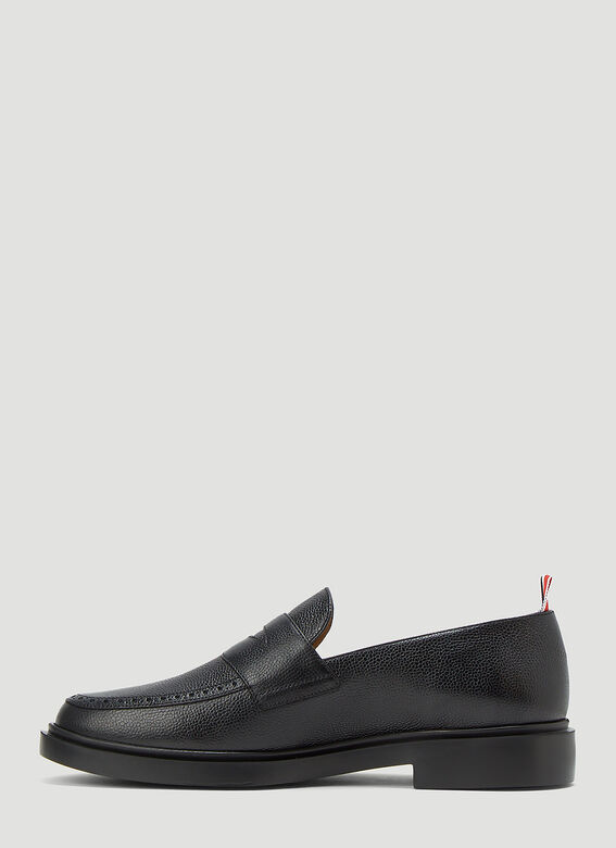 Thom Browne PENNY LOAFER W/ TONAL LIGHTWEIGHT RUBBER SOLE IN PEBBLE GRAIN 3