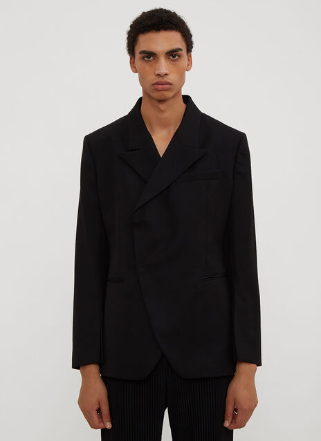Namacheko Asymmetric Piped Suit Jacket