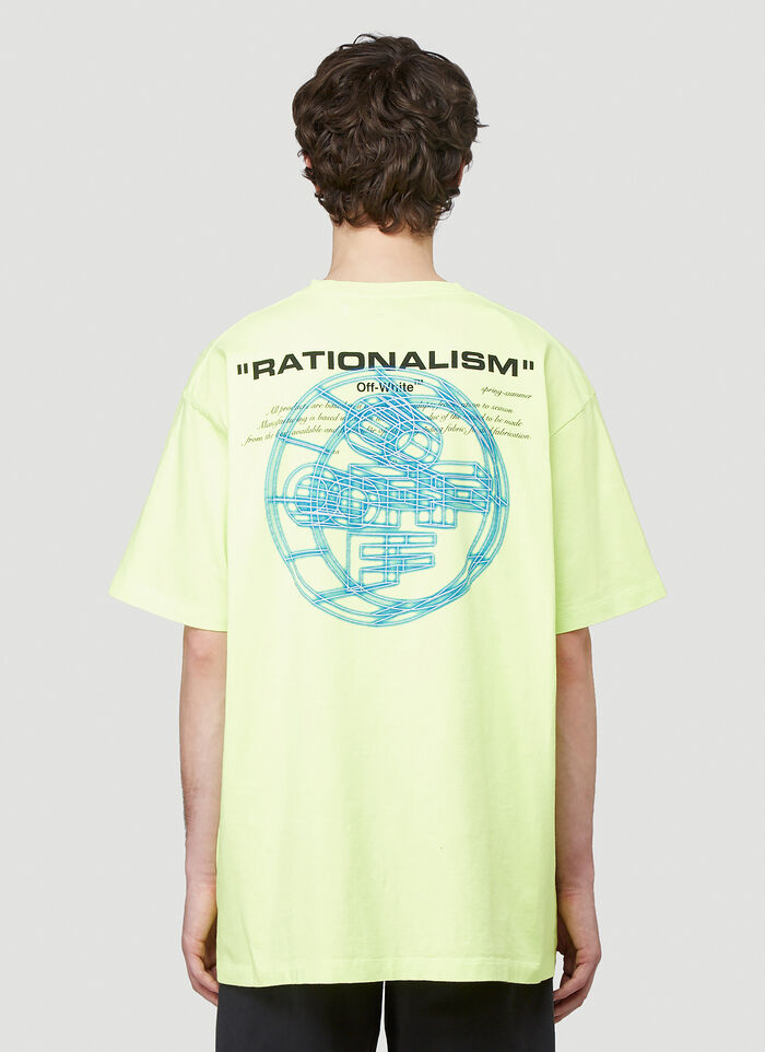 Off White Men S Rationalism Fluorescent T Shirt In Yellow Ln Cc
