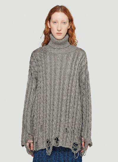 Balenciaga Distressed Turtleneck Sweater