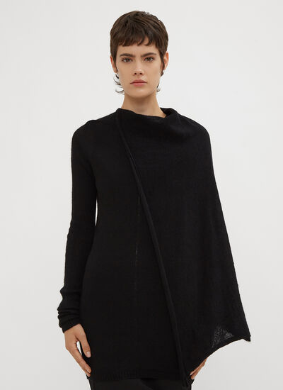 Rick Owens Cape Tunic Knit Sweater