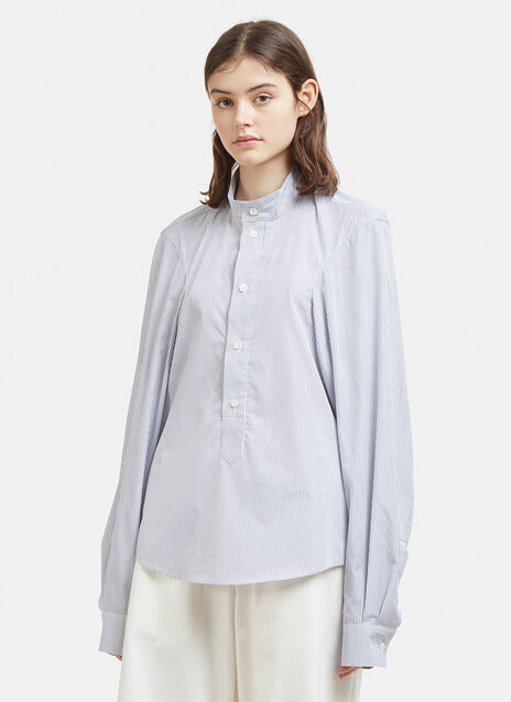 Hed Mayner Striped Extended Sleeve Shirt