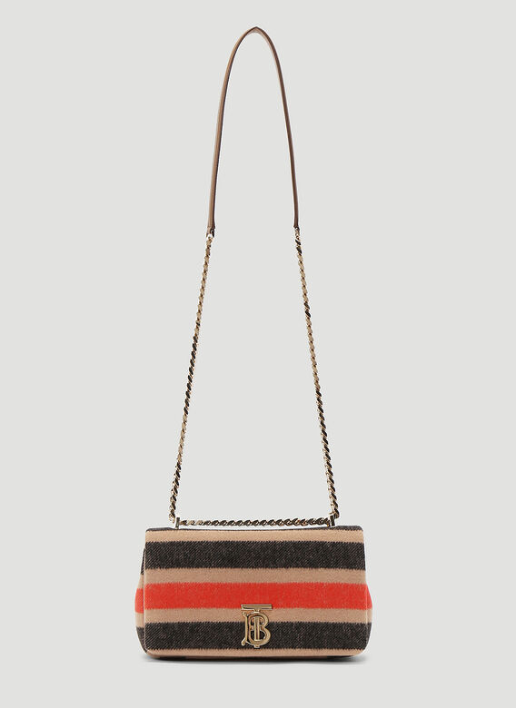 Burberry Lola Striped Wool Small Shoulder Bag 1